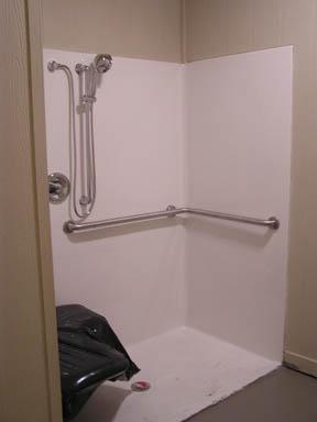 handicapped restroom shower