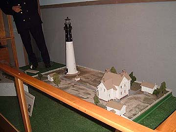 diorama of lighthouse compound