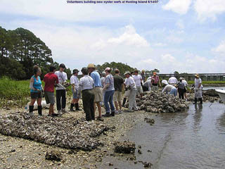 2007 team building oyster reef